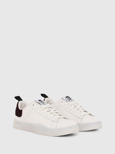 Diesel - S-CLEVER LOW LACE W, Bianco/Rosa - Sneakers - Image 2