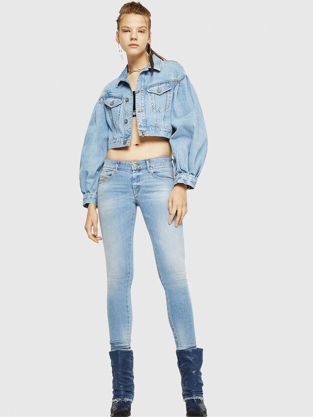 Diesel - Slandy Low 086AA, Blu Chiaro - Jeans - Image 6