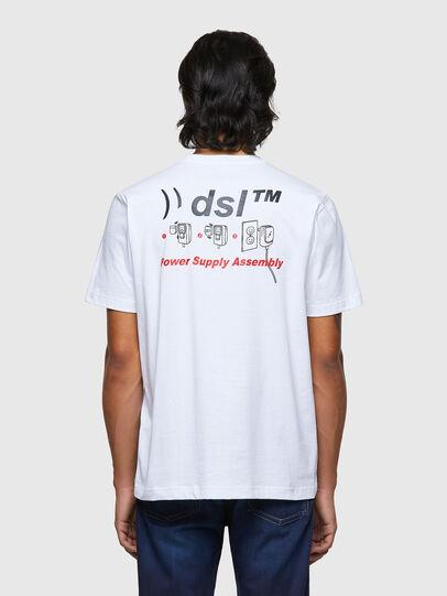 Diesel - T-JUST-B56, Bianco - T-Shirts - Image 2