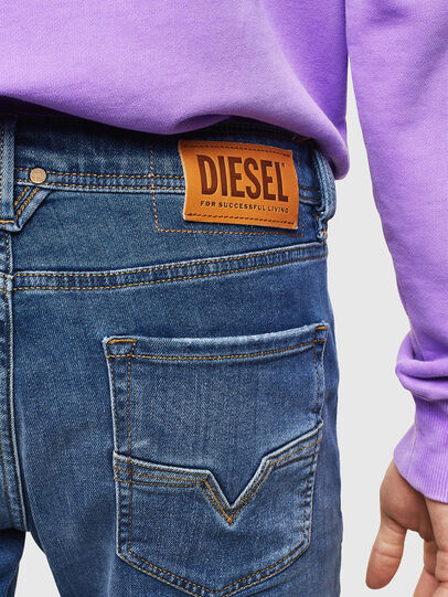 Diesel - Larkee 0097X, Blu medio - Jeans - Image 5
