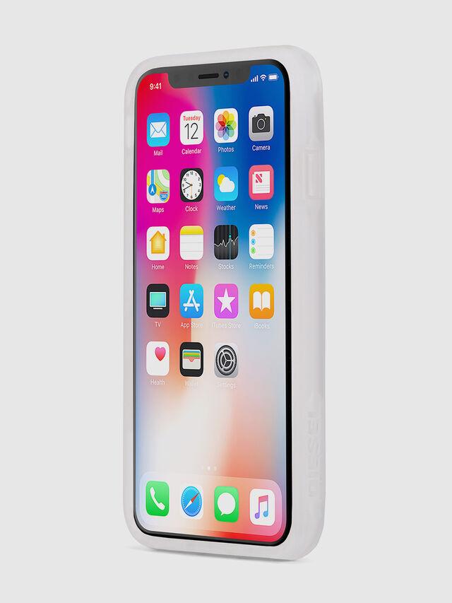 BLAH BLAH BLAH IPHONE X CASE, Bianco/Argento