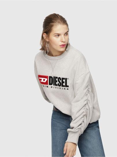 Diesel - F-ARAP, Grigio Chiaro - Felpe - Image 4