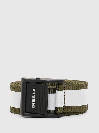 Diesel - B-FIRE, Verde Oliva - Cinture - Image 1