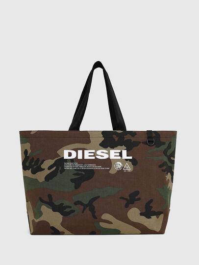 Diesel - D-THISBAG SHOPPER L, Verde Camo - Shopper e Borse a Spalla - Image 1