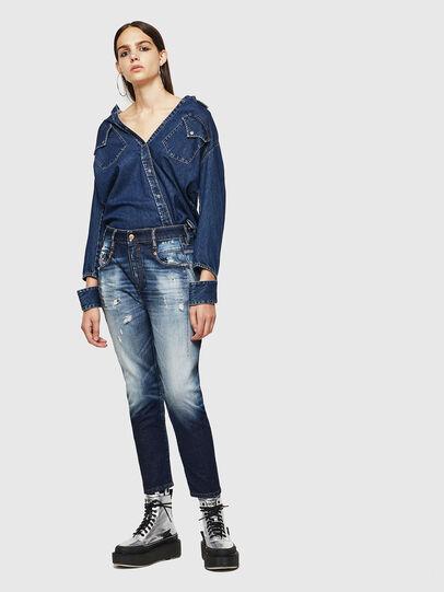 Diesel - Fayza 0092I, Blu Scuro - Jeans - Image 6