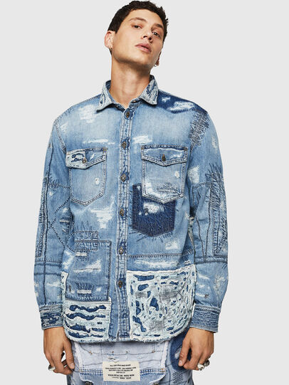 Diesel - D-HISAKY-SY, Blu Jeans - Camicie in Denim - Image 1