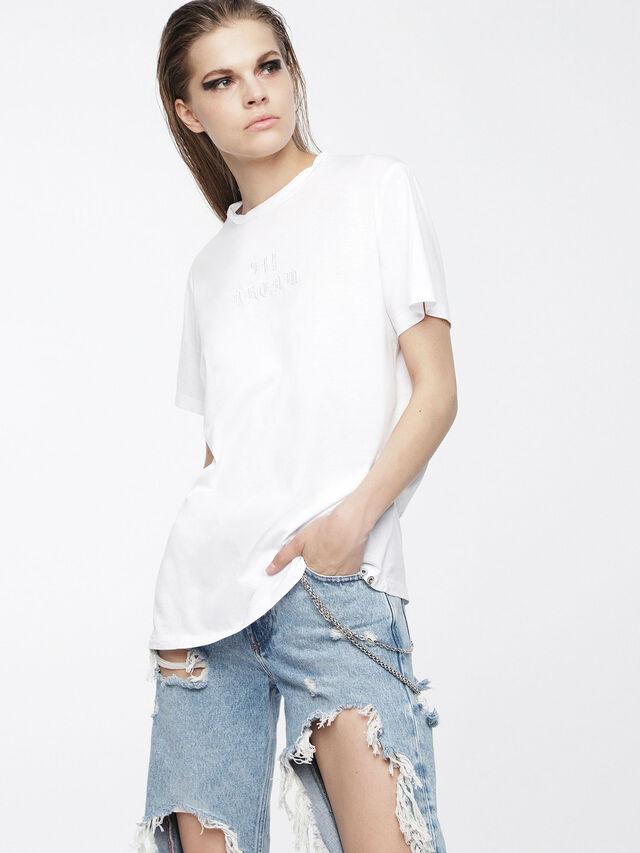 Diesel - T-DARIA, Bianco - T-Shirts - Image 1