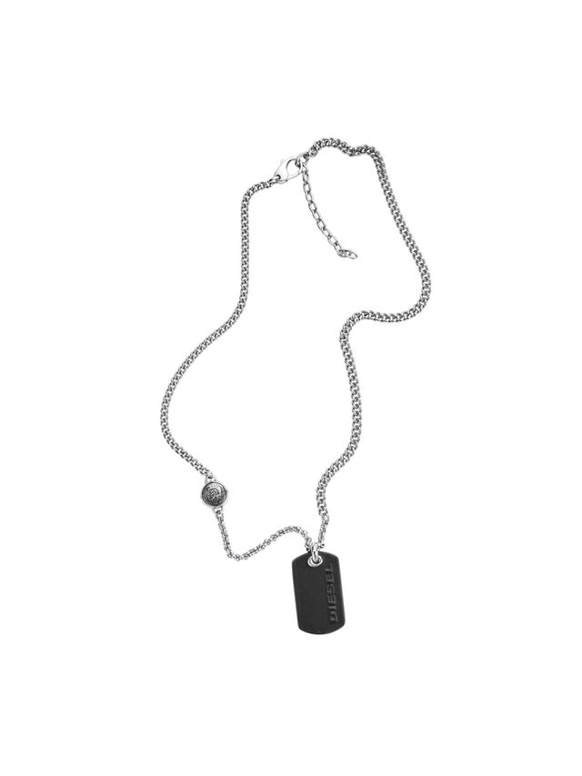 Diesel - NECKLACE DX1012, Argento - Collane - Image 1