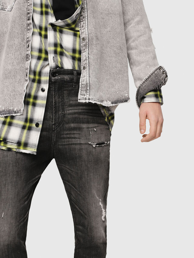 Diesel - D-Vider JoggJeans 0077S, Nero/Grigio scuro - Jeans - Image 4