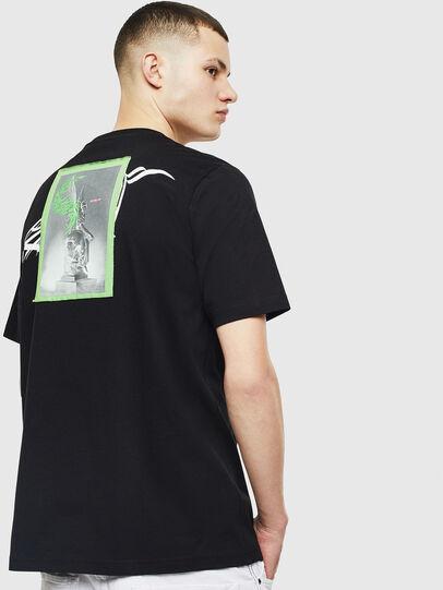 Diesel - T-JUST-T11, Nero - T-Shirts - Image 2