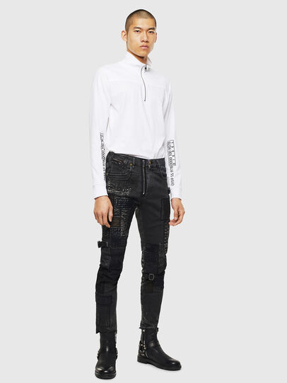 Diesel - T-DIEGO-LS-DOLCE, Bianco - T-Shirts - Image 5