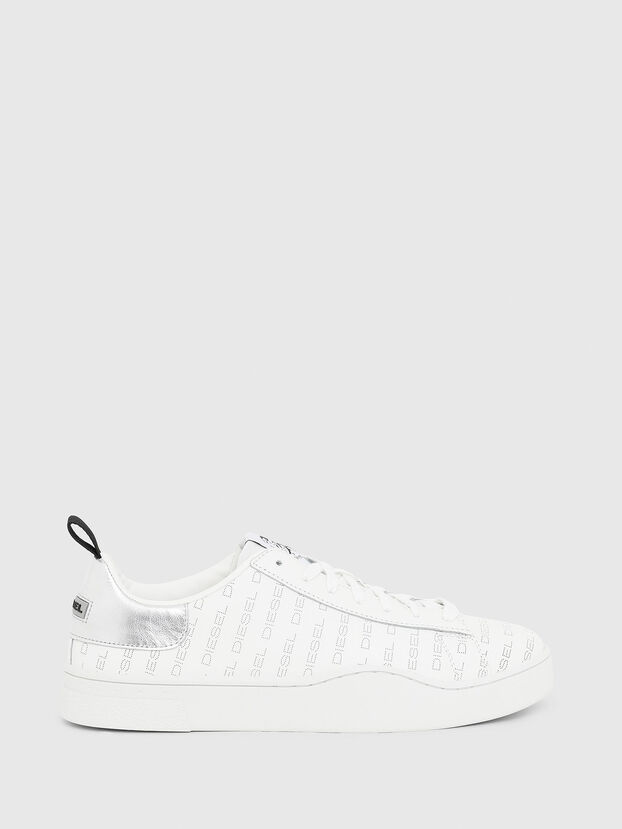 S-CLEVER LOW LACE, Bianco/Argento - Sneakers