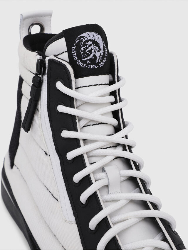 Diesel - D-VELOWS MID PATCH, Bianco/Nero - Sneakers - Image 5