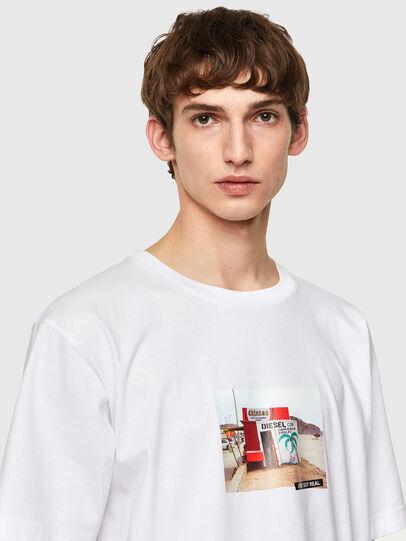 Diesel - T-TUBOLAR-B2, Bianco - T-Shirts - Image 3