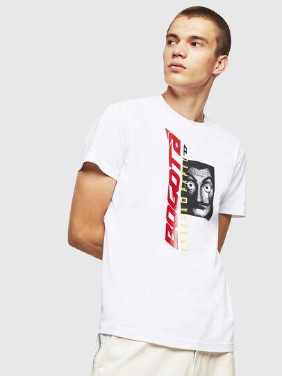 Diesel - LCP-T-DIEGO-BOGOTA, Bianco - T-Shirts - Image 1