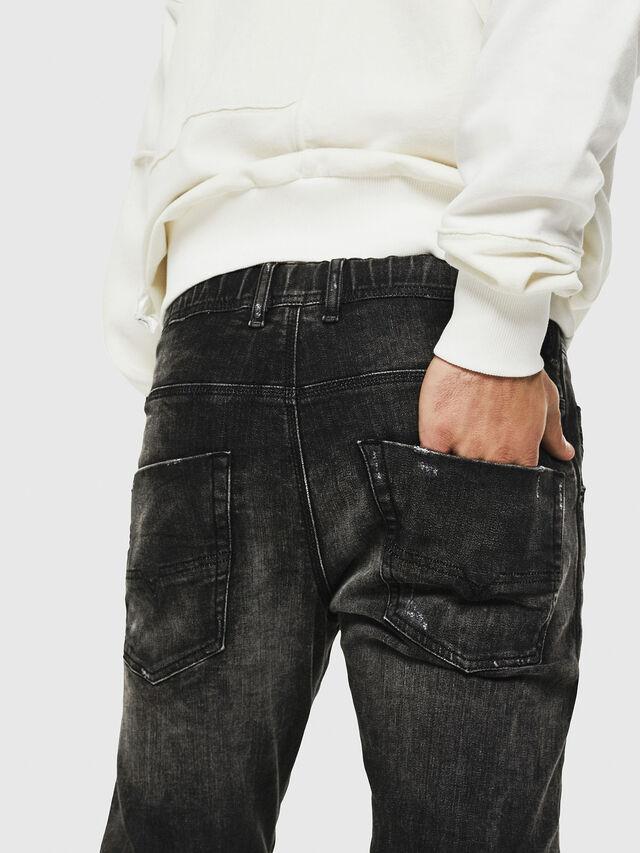Diesel - Dvl-Krooley JoggJeans 0077S, Nero/Grigio scuro - Jeans - Image 3