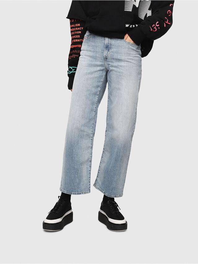 Diesel - Widee 081AL, Blu Chiaro - Jeans - Image 1