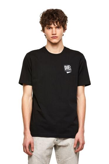 T-shirt con applicazione ripiegata con logo