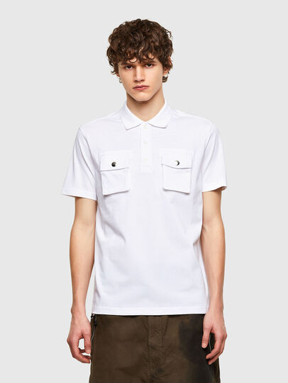 Diesel - T-ERPOLOCK, Bianco - Polo - Image 1
