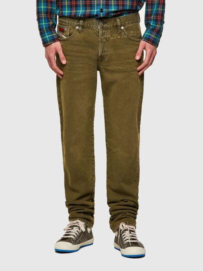 Diesel - D-Kras 09A35, Verde Militare - Jeans - Image 1
