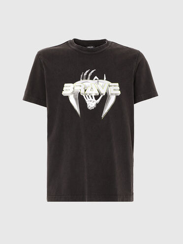 T-shirt con stampa Brave