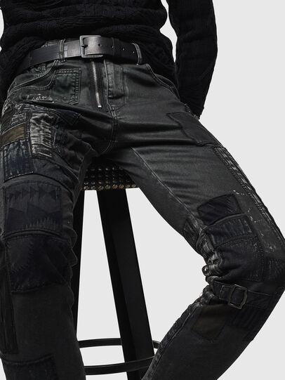 Diesel - D-Strukt 0093P, Nero/Grigio scuro - Jeans - Image 3