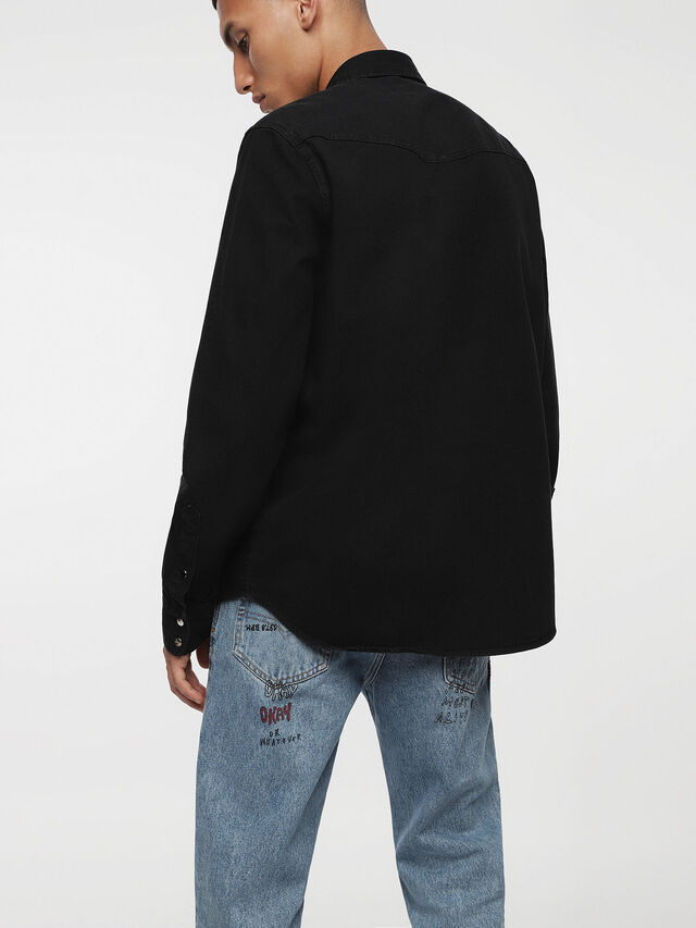 Diesel - D-PLANET, Nero Jeans - Camicie in Denim - Image 2