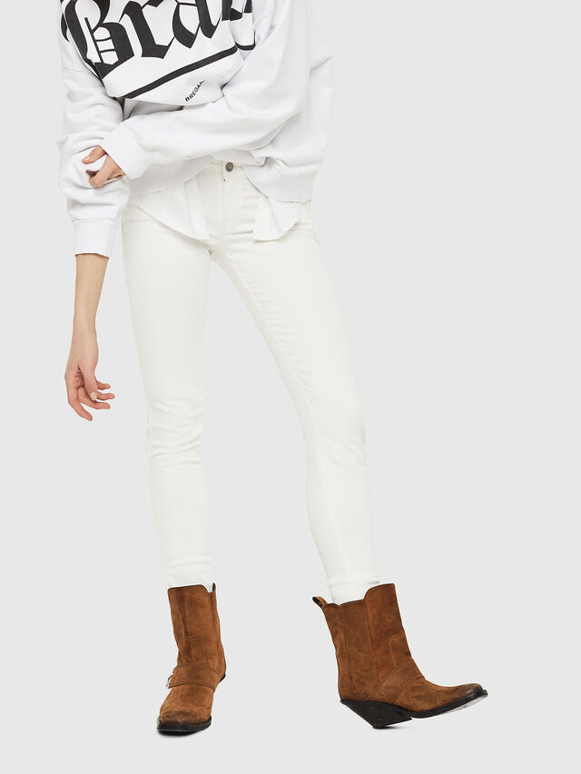 Diesel - Gracey JoggJeans 088AZ, Bianco - Jeans - Image 4