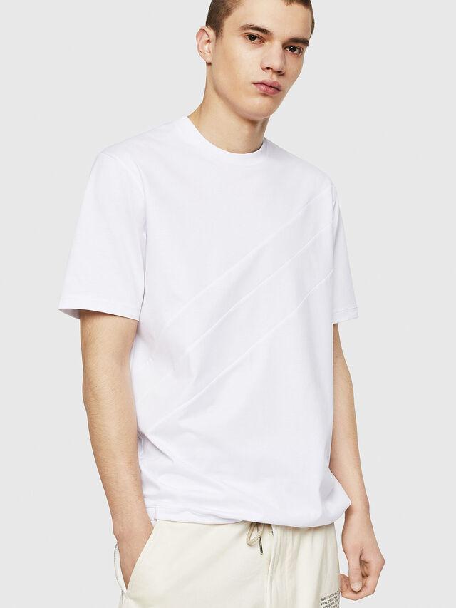 Diesel - T-ALEKSEY, Bianco - T-Shirts - Image 1