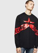 T-JUST-LS-STAR, Nero - T-Shirts