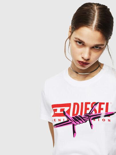 Diesel - T-SILY-ZC, Bianco - T-Shirts - Image 4