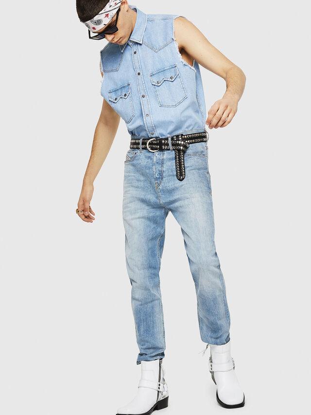 Diesel - D-Vider 081AL, Blu Chiaro - Jeans - Image 5