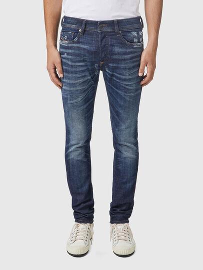 Diesel - Sleenker 09A85, Blu Scuro - Jeans - Image 1