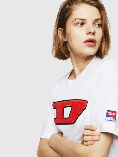 Diesel - T-JUST-DIVISION-D-FL, Bianco - T-Shirts - Image 3