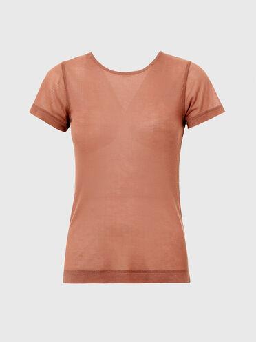 T-shirt Green Label con catenina sul girocollo