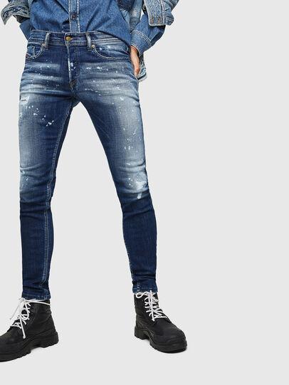 Diesel - Sleenker 0091Y, Blu medio - Jeans - Image 1