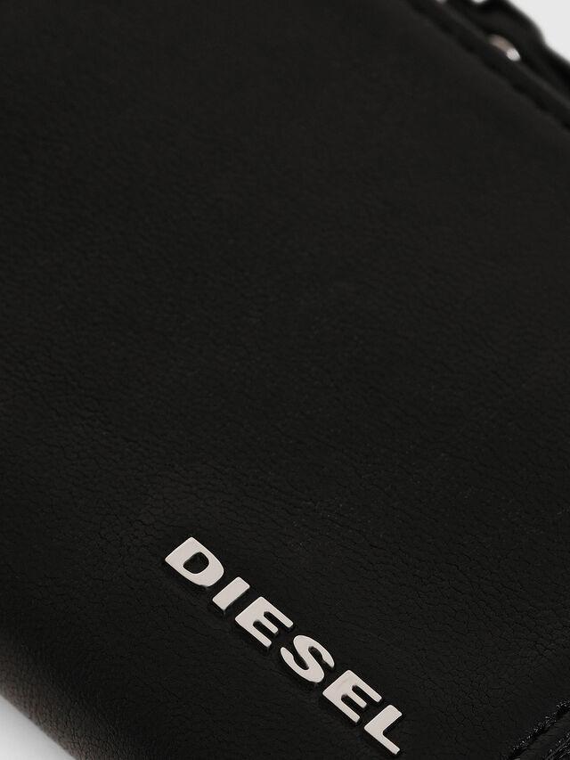 Diesel - L-PASSME, Nero Cuoio - Portafogli Piccoli - Image 3