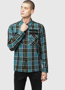 S-TAKESHI, Blu/Verde - Camicie
