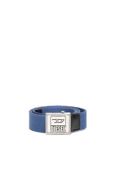 Cintura in nastro con fibbia con logo