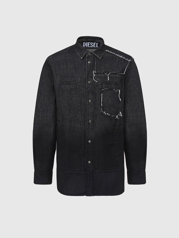 D-NESKY, Nero - Camicie in Denim
