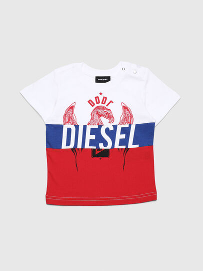 Diesel - TRICKYB, Bianco/Rosso/Blu - T-shirts e Tops - Image 1