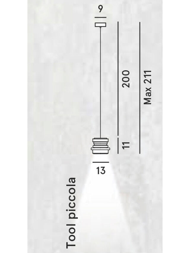 Diesel - TOOL PICCOLA SOSP, Nero - Lampade a Sospensione - Image 2