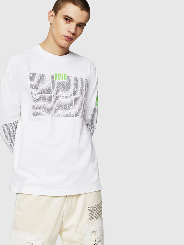 Diesel - T-JUST-LS-NEW, Bianco - T-Shirts - Image 1