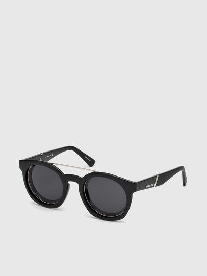 Diesel - DL0251, Nero Brillante - Occhiali da sole - Image 4