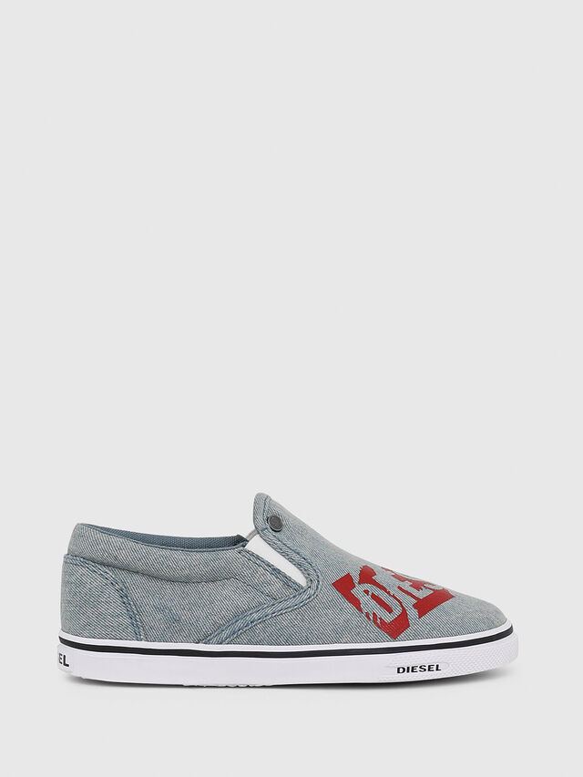 Diesel - SLIP ON 21 DENIM YO, Blu Jeans - Scarpe - Image 1