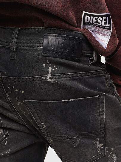 Diesel - Krooley JoggJeans 084AE, Nero/Grigio scuro - Jeans - Image 5
