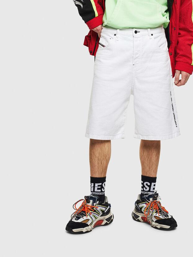 D-BRON, Bianco - Shorts