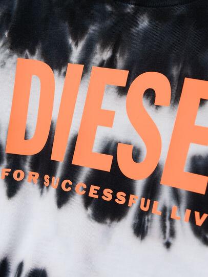 Diesel - TAREZB, Nero/Bianco - T-shirts e Tops - Image 3