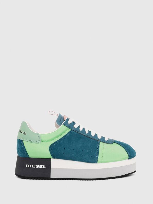 S-PYAVE WEDGE, Verde/Blu - Sneakers
