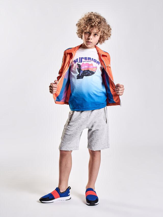 Diesel - TJOESR, Bianco/Blu - T-shirts e Tops - Image 4
